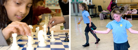 chess and skipping clubs